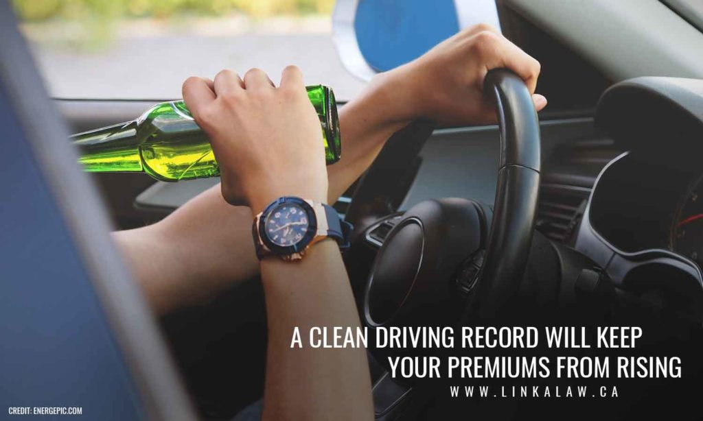 A clean driving record will keep your premiums from rising.