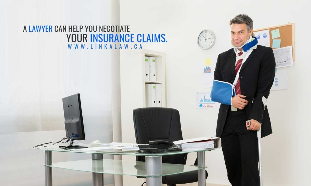 A lawyer can help you negotiate your insurance claims.
