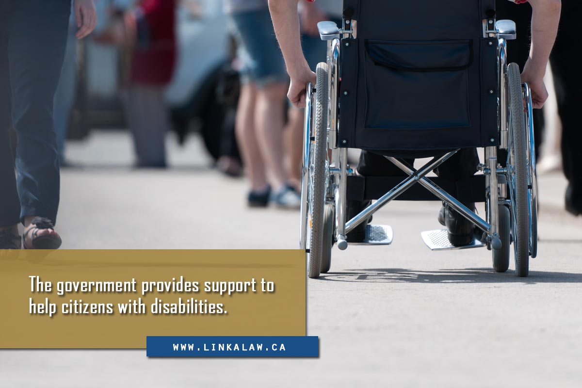 The government provides support to help citizens with disabilities