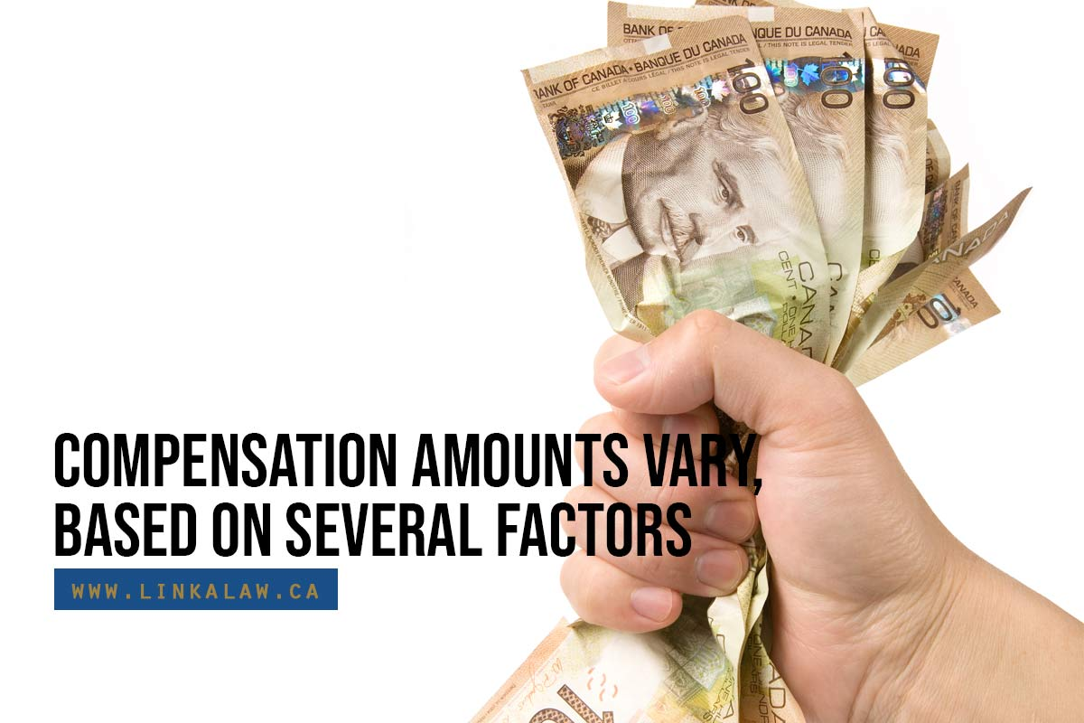 Compensation amounts vary, based on several factors