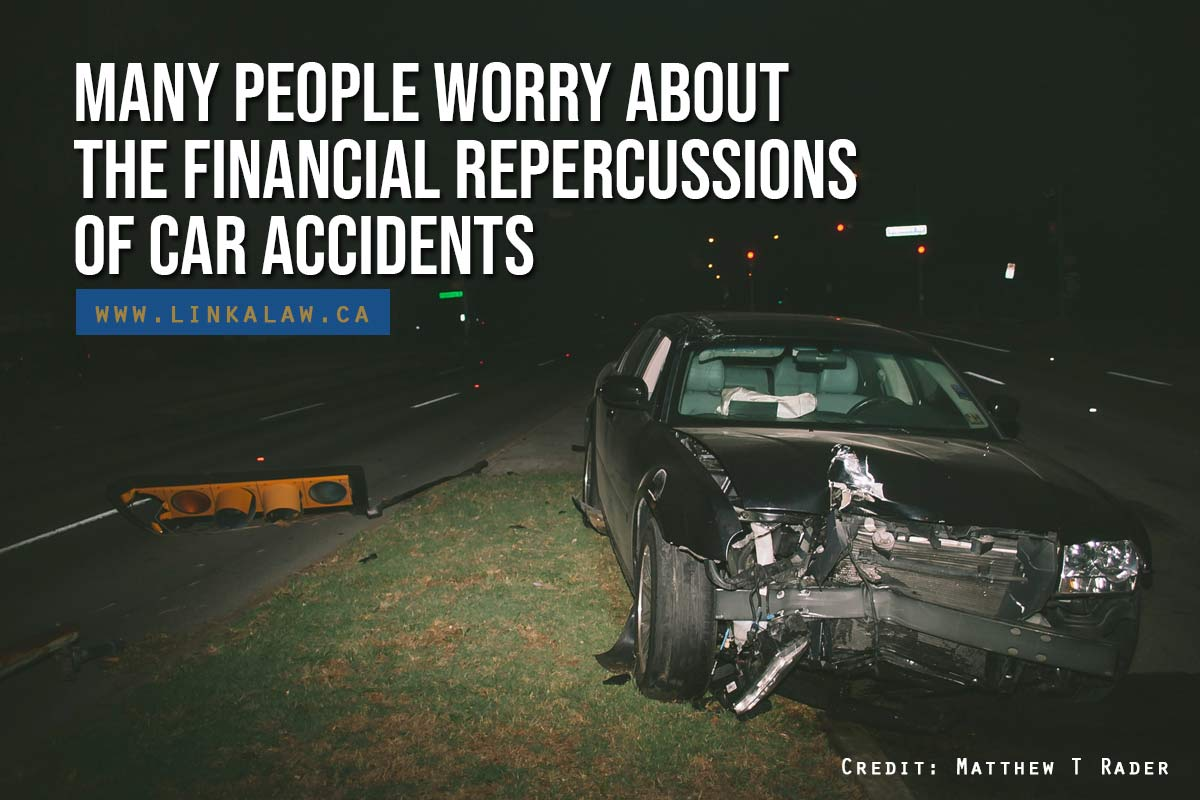 Many people worry about the financial repercussions of car accidents