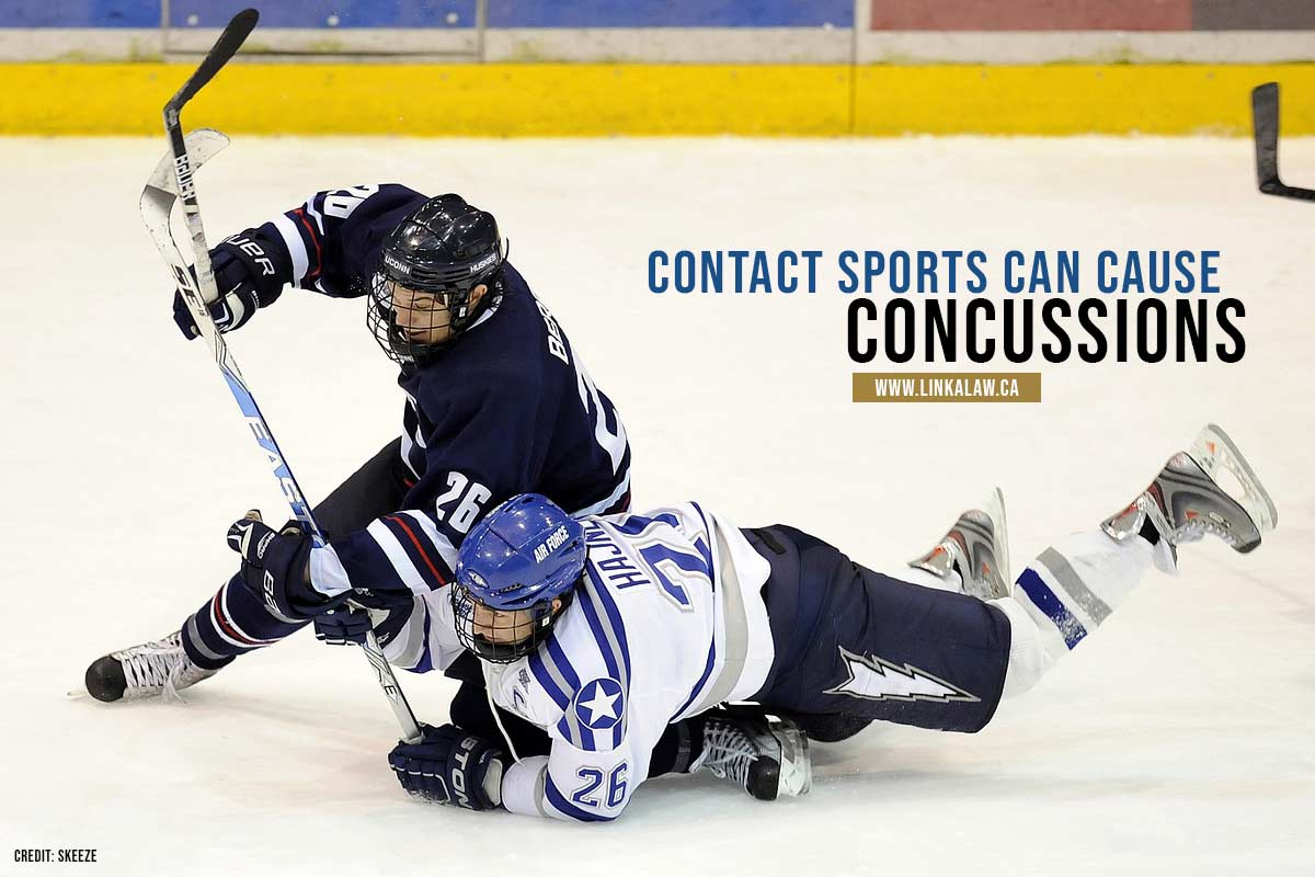 Contact sports can cause concussions