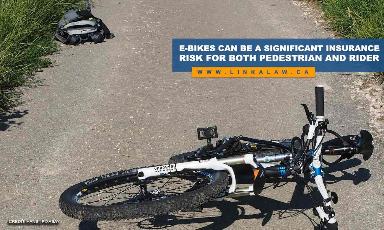 E-bikes can be a significant insurance risk for both pedestrian and rider