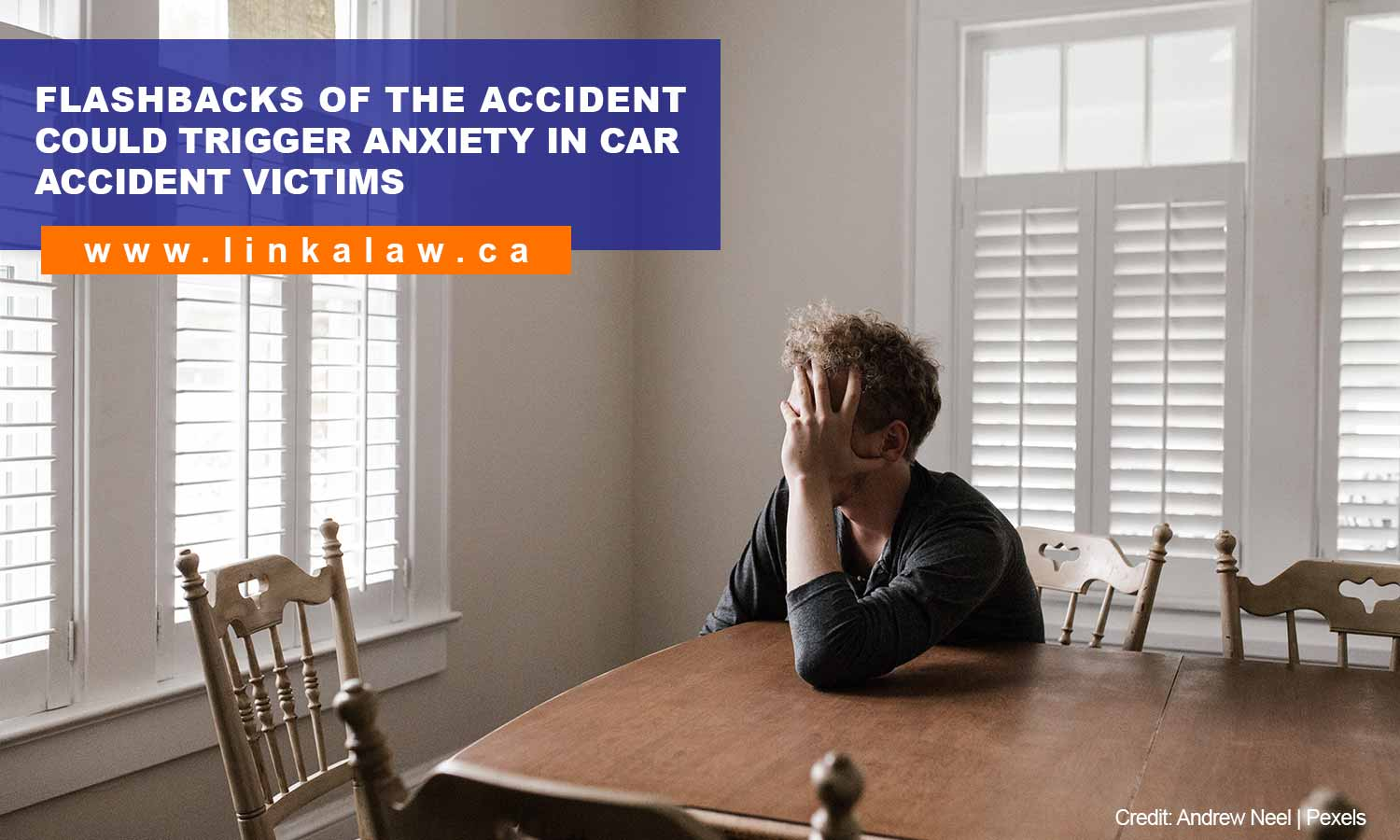Flashbacks of the accident could trigger anxiety in car accident victims