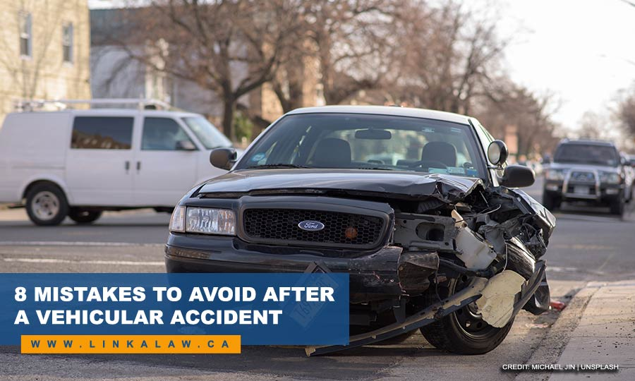 8 Mistakes to Avoid After a Vehicular Accident